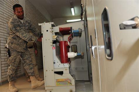 deployed plumber restores base s electrical substation