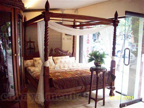 Ranjang Jati Kanopi dipan kanopi ukir kayu jati jual dipan jati jepara harga