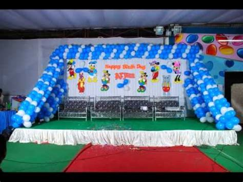 Simple Birthday Party Decorations At Home birthday party stage decorations banjarahills youtube