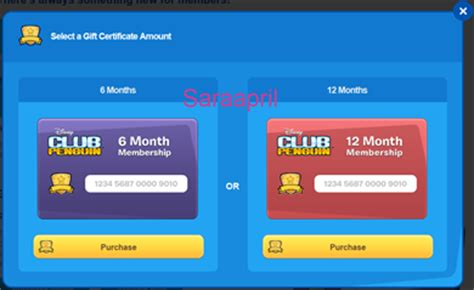 Club Penguin Gift Card Codes - saraapril in club penguin club penguin membership page update june 2013