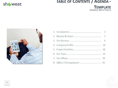 Table Of Content Templates For Powerpoint And Keynote Table Of Content In Powerpoint
