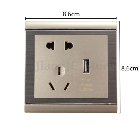 power outlet light socket universal electrical au usb power outlet light switch wall