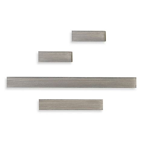 buy melannco 174 floating shelves in grey set of 4 from bed