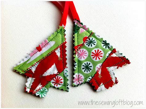 easy holiday ornaments made from fabric scraps quilted trees