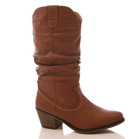 s slouch boots womens cowboy boots western mid calf slouch faux