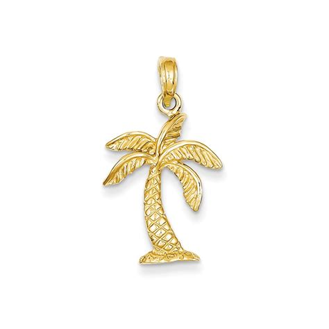 all products in 14kt yellow gold palm tree charms enamel