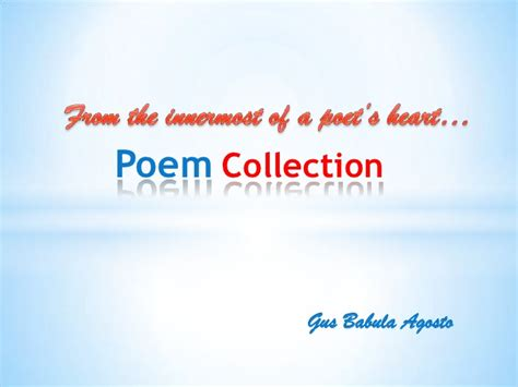 my poetry collection my poem collection