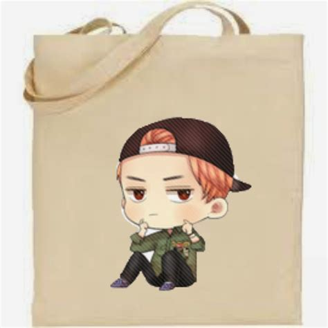 Tote Bag Kpop Wolf 88 painted shoes and bags kpop chibi bags product