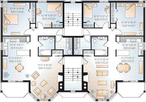 two family house plans multi family plan 64952 at familyhomeplans com