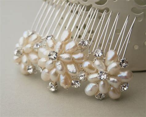 Top 7 Flower Accessories by Emily Pearl Bridal Hair Comb Floral Handmade By