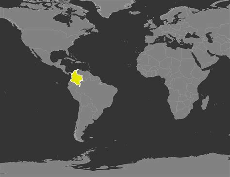 colombia map of the world colombia on world map timekeeperwatches