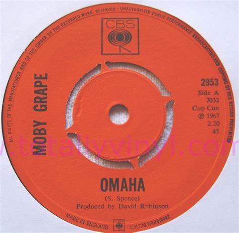 Omaha Records Totally Vinyl Records Moby Grape Omaha 7 Inch Vinyl