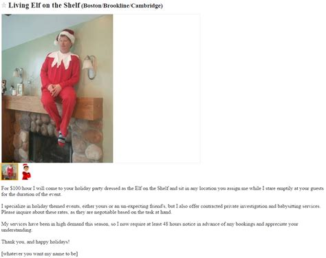 I Posted An Ad On Craigslist This Morning To Rent by Creepiest No Best No Creepiest Craigslist On
