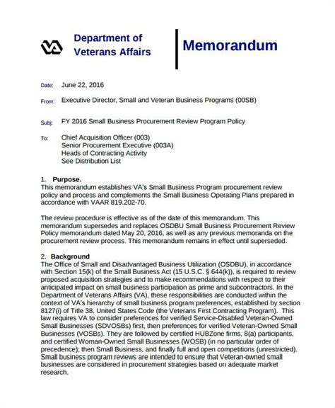 business memo business memorandum exle 12 business memo templates free