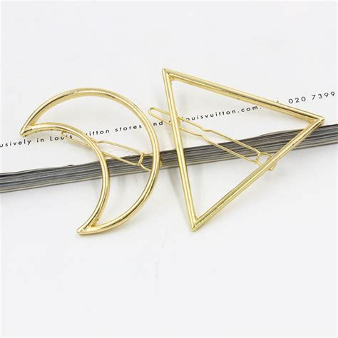 2pcs Dress Triangle 2pcs pc moon triangle design exquisite metal hair