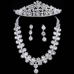 wedding jewelry allens bridal gorgeous wedding bridal jewelry set earrings headpiece and necklace with