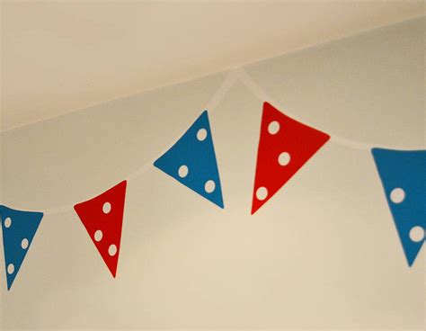 bunting wall stickers bunting wall stickers contemporary wall stickers