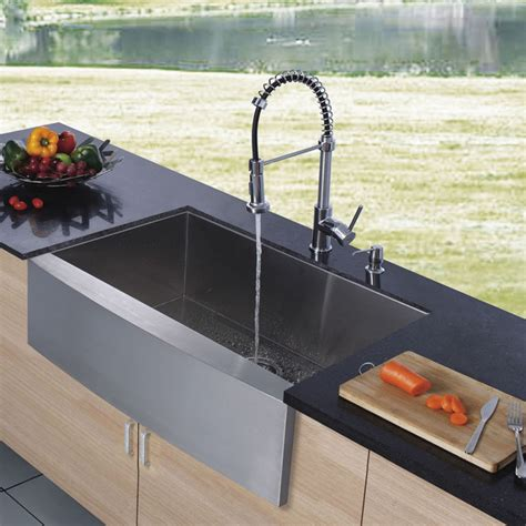 Kitchen Faucets For Farm Sinks | vigo platinum series farmhouse kitchen sink faucet vg15002