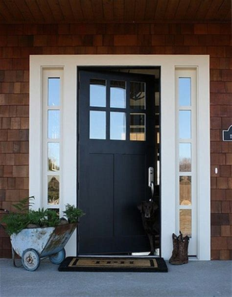 black exterior doors photo