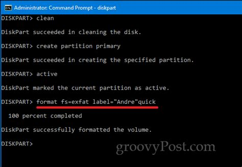 format diskpart ntfs quick how to format local disks usb storage and sd cards using