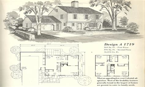 1950s floor plans vintage house plans 1950s vintage house plans farmhouses