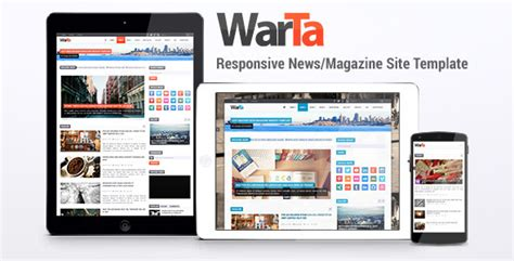 Warta News Magazine Site Template By Friskamax Themeforest Magazine Site Template