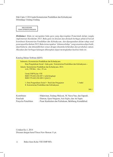 Buku Ips Smp 2 Vlll buku guru ips kelas viii smp kurikulum 2013