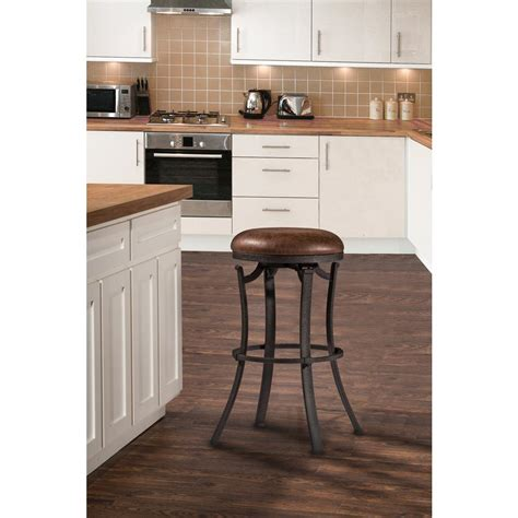 Kelford Backless Swivel Stool by Hillsdale Furniture Kelford Black Swivel Backless Counter