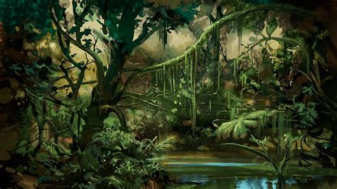 jungle painting stungeon studios jungle background