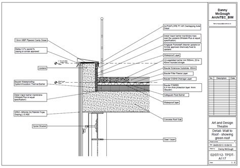 green roof wall section green roof archives architect bim