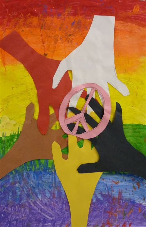 peace crafts for paper scissors glue mlk inspired