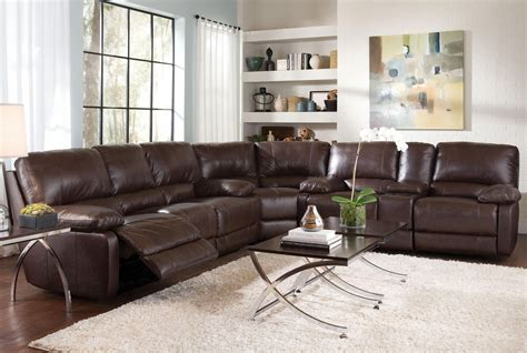 brown leather reclining sectional steal a sofa furniture brown leather reclining sofa steal a sofa furniture