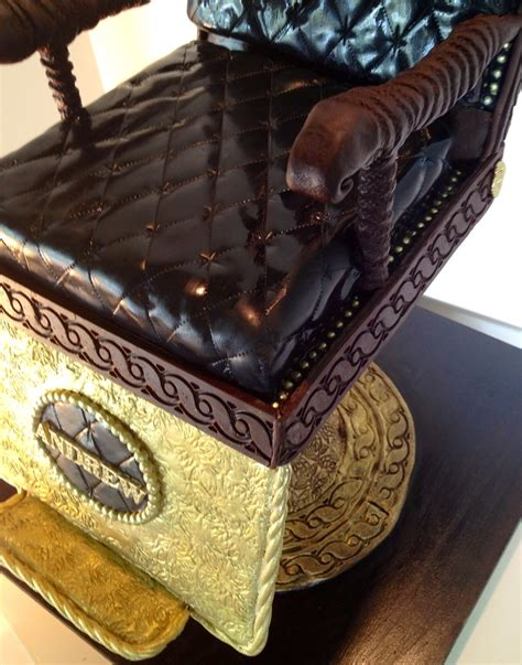 cake seats vintage barbers chair grooms cake the seat was vanilla