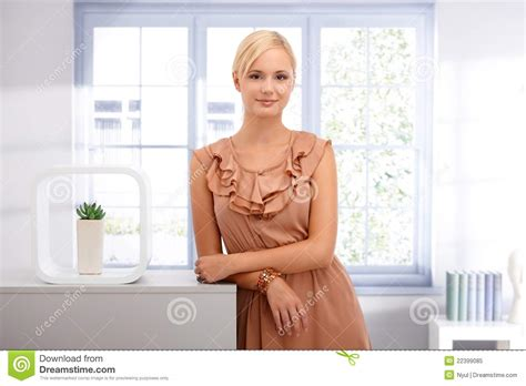 smart living room royalty free stock image image 8885986 attractive smart woman in bright living room royalty free