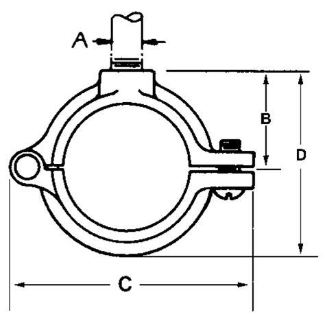 Prohunter Split Ring 100 Lbs Size 8 pipe tubing pipe hangers hinge split ring bt gal 2 1