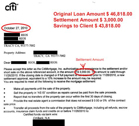 Mortgage Settlement Letter Credit Line Iq