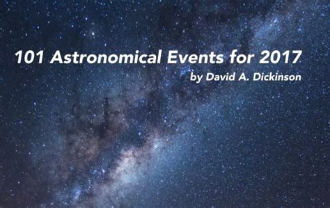 Free Events In Today Our Free Book 101 Astronomical Events In 2017 Universe