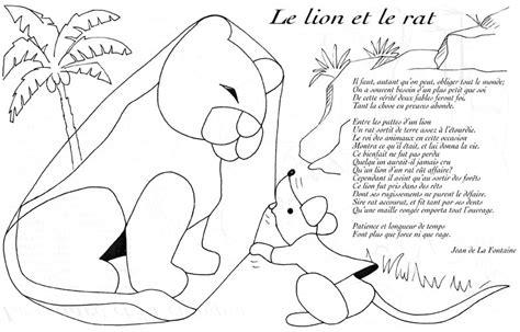 film le lion et le rat lion rat lafontaine coloriage les fables de lafontaine