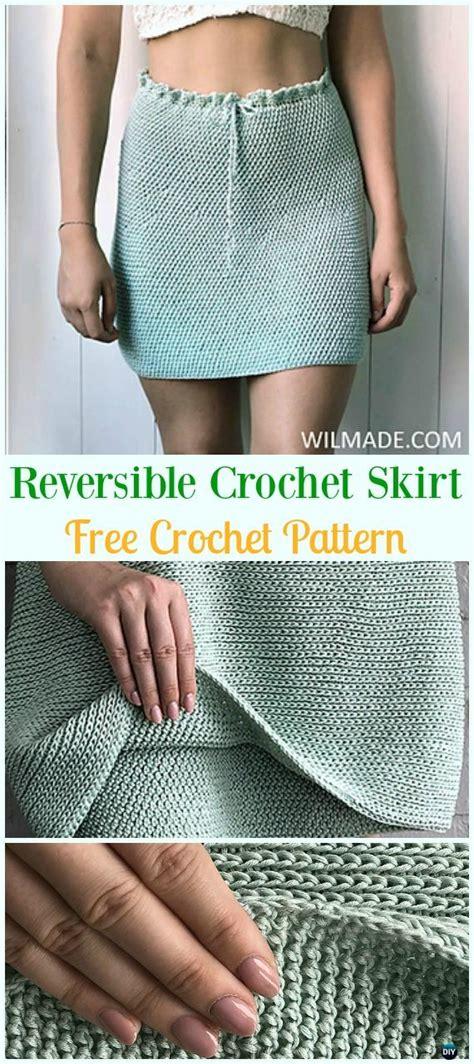 crochet women skirt  patterns instructions
