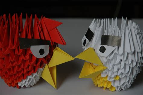 Angry Birds Origami - angry birds 3d origami by chifflee on deviantart