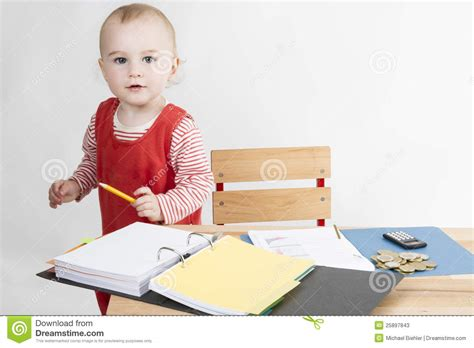 Kid At Desk by Child At Writing Desk Stock Photos Image 25897843
