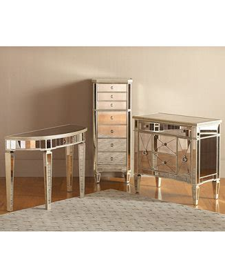 Macys Mirrored Furniture by Marais Accent Furniture Collection Mirrored Furniture