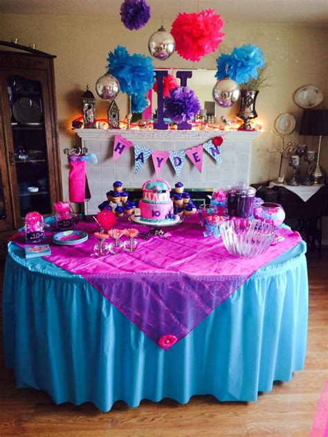 themes for a girl s 10th birthday party girls 10th birthday party party ideas pinterest 10th