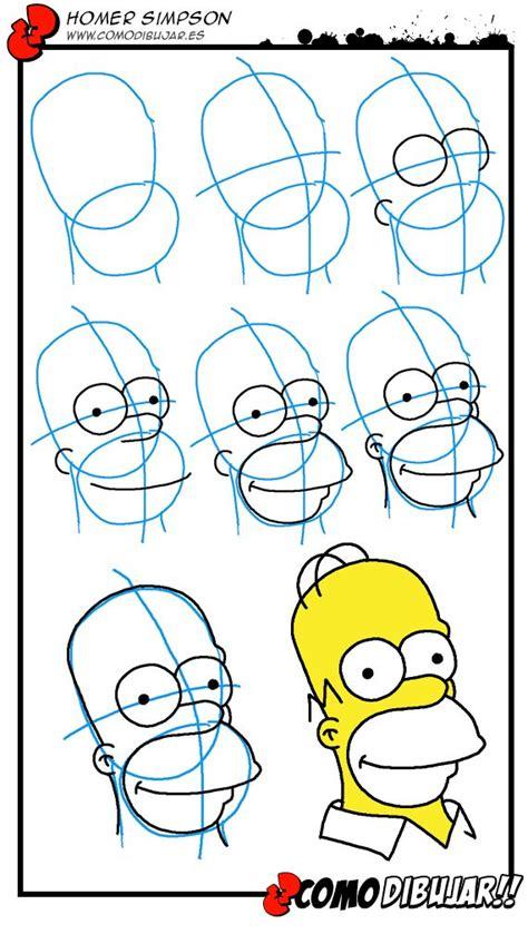 como aprender a dibujar a los simpson mimundomanual como dibujar a homer paso a paso http www comodibujar