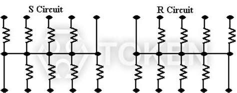 resistor network chip chip array resistor network resistors token components