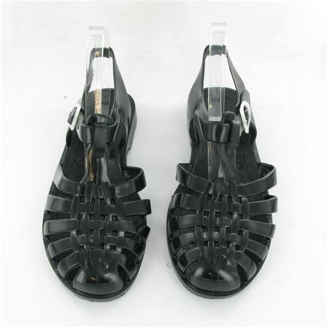 jelly sandals for adults meduse adults sun jelly sandals in black