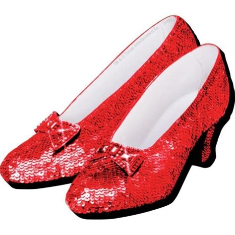 ruby ruby slippers the wizard of oz magnet the ruby slippers there s no