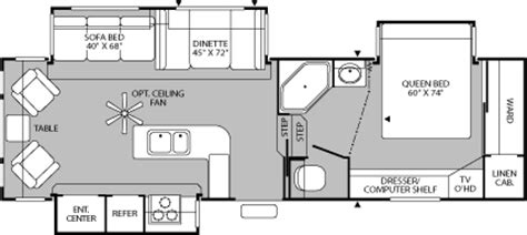 fleetwood fifth wheel floor plans fleetwood prowler 5th wheel floor plans autos post