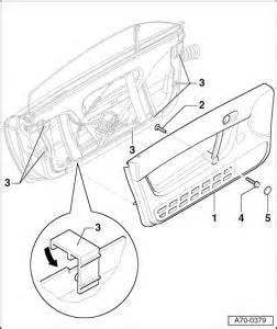 2005 audi tt question disassembly of driver s door panel