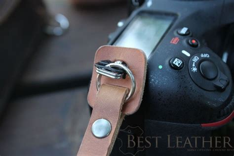 tap dye leather camera wrist strap  bestleatherorg